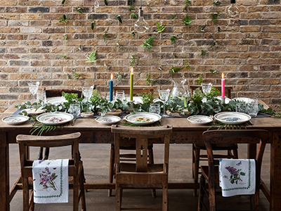 Botanic Garden Collection, rustic table setting
