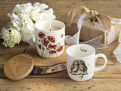 Royal Worcester Mug and Wax Lyrical Candle Gift Set