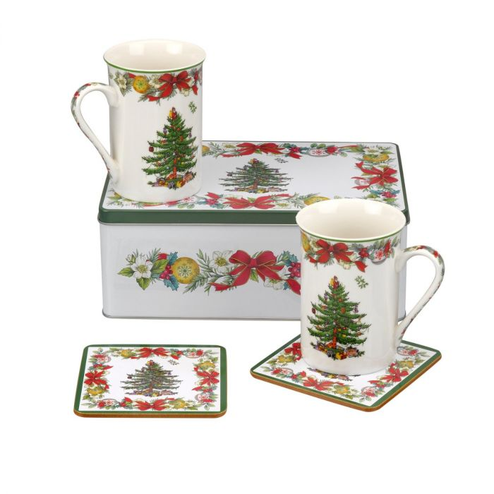 Spode Christmas Tree.Spode Christmas Tree Holly Ribbons 5 Piece Set
