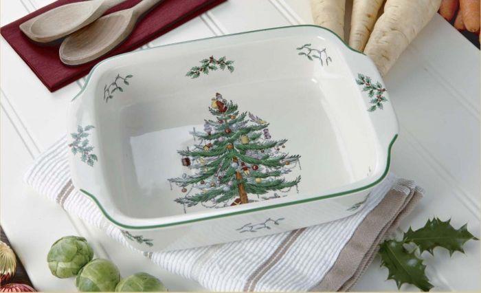 Spode Christmas Tree.Spode Christmas Tree Rectangular Handled Dish