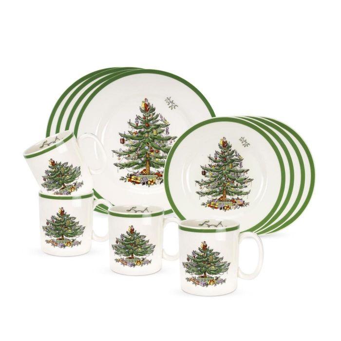 Spode Christmas Plates.Spode Christmas Tree 12 Piece Set