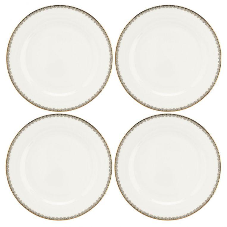 Royal Worcester Blue Lily Dinner Plates Set of 4