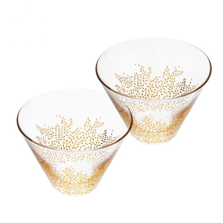 Sara Miller London Portmeirion Chelsea, Decorative Glass Bowls