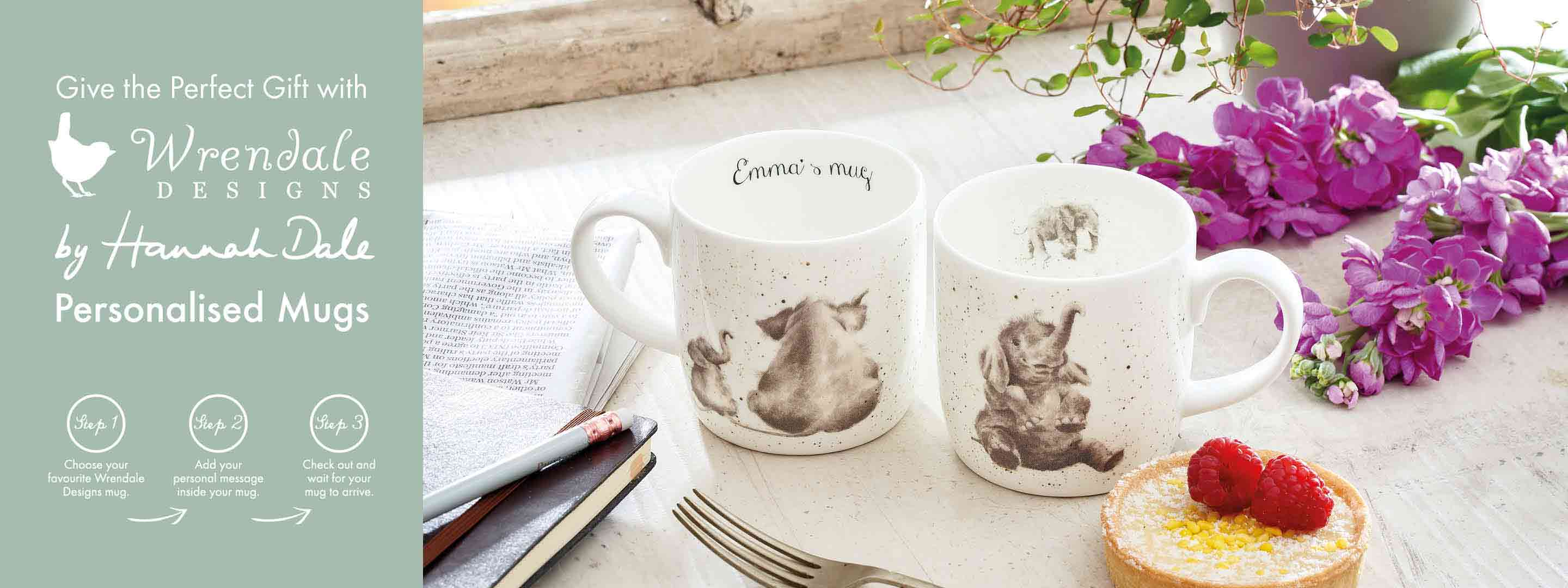 Wrendale Designs Personalised Mugs Fine Bone China Gifts