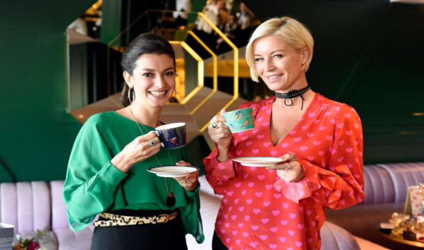 Sara Miller with Denise Van Outen