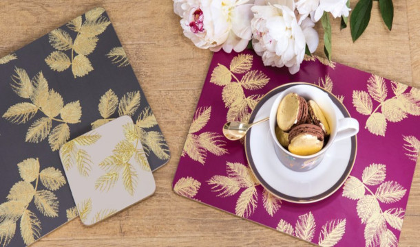 Sara Miller London Portmeirion Etched Leaves collection