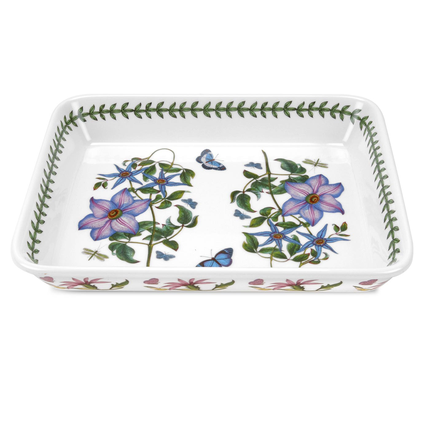 Portmeirion Botanic Garden Designs portmeirion botanic garden is rimmed round china with a multi motif floral design and brightly colored butterflies bees or dragonflies at the center Giftware Cookware
